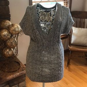 EUC Abercrombie Gray Short Sleeve Sweater Dress